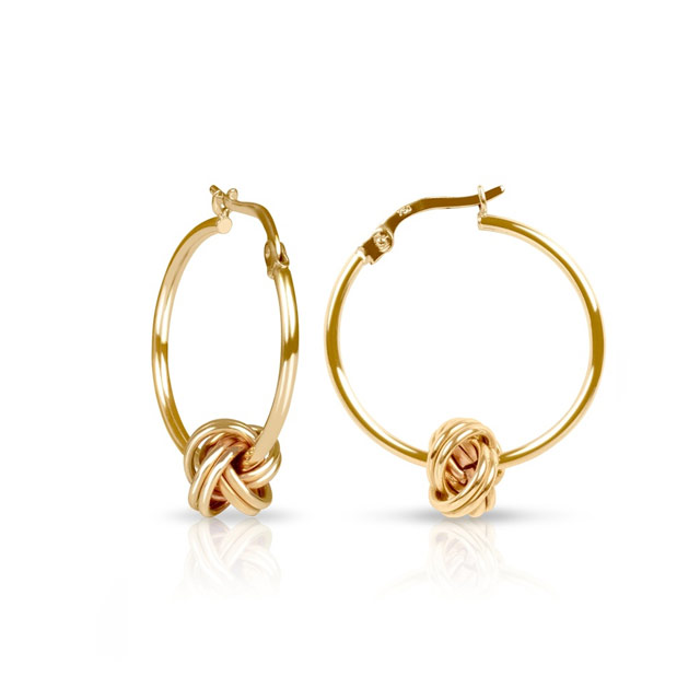 Knot Hoops Earring (P19,175) from Gemline Jewelry