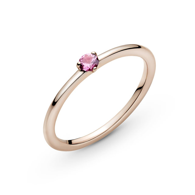Pink Solitaire Ring (P2,650) from Pandora