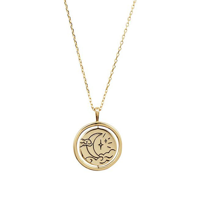 Chasing Clouds Gold Necklace (P2,355.52) from Wanderlust + Co