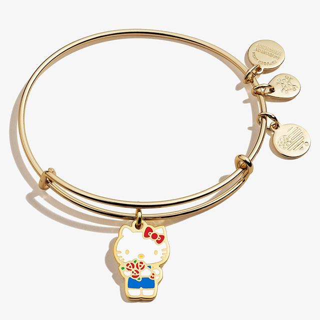 Hello Kitty Valentine Charm Bangle in Shiny Gold