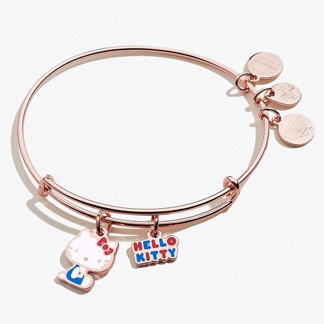 Hello Kitty Valentine Charm Bangle in Shiny Rose Gold