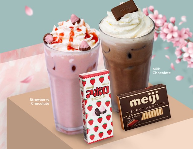 UCC Cafe and Meiji Apollo