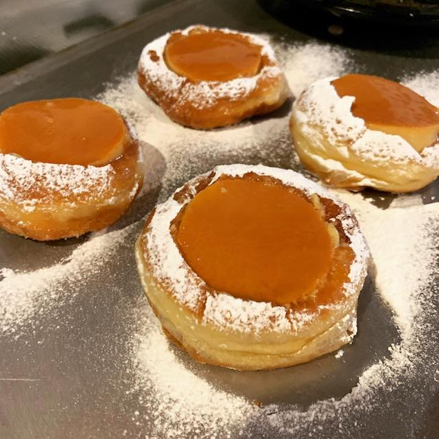 leche flan donuts