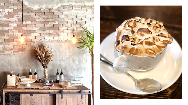The Black Bean Cafe and Meringue Cappuccino