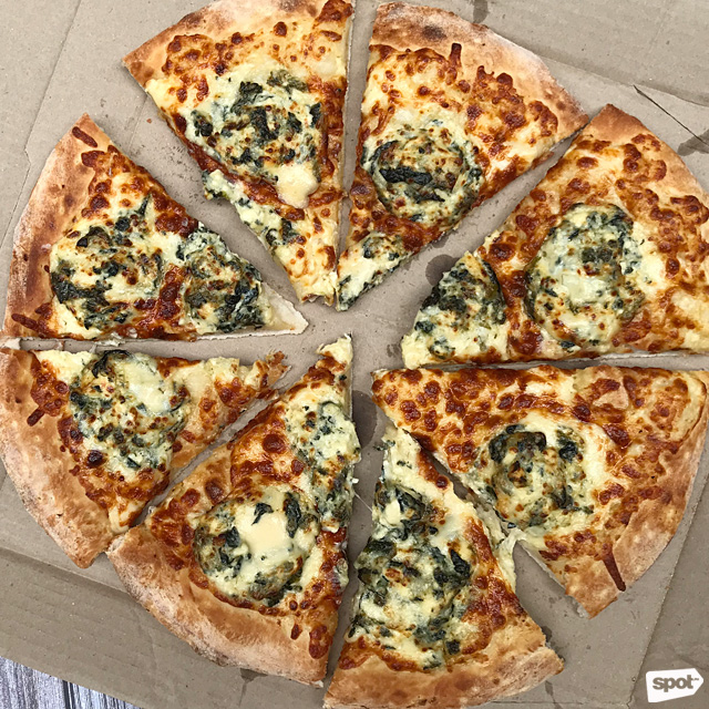 angels pizza spinach dip