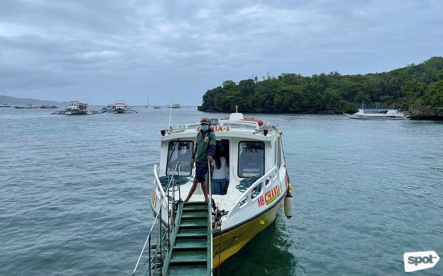 Boats in Boracay ports