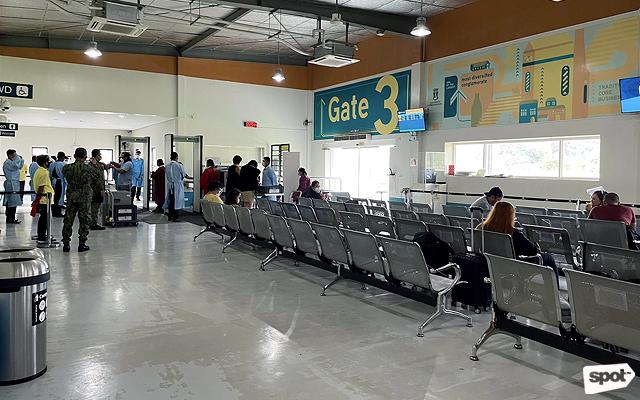 Boarding gate at Godofredo P. Ramos Airport