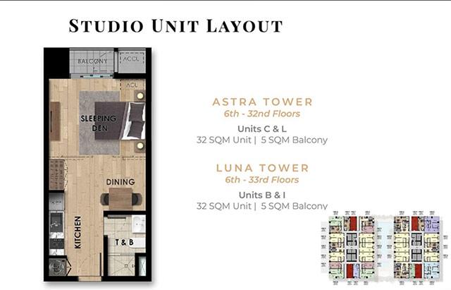 condo with studio units