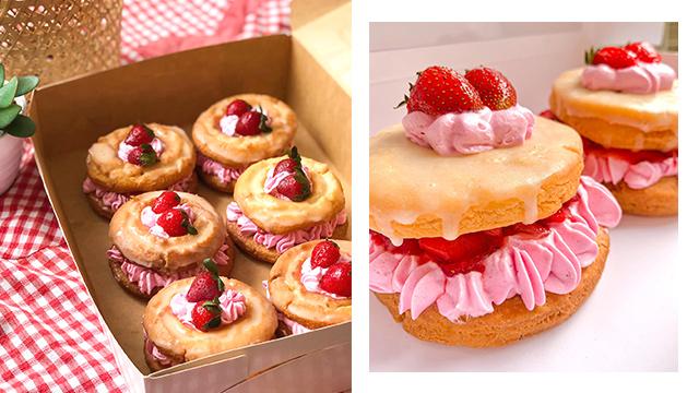 Strawberry Dream Doughnuts