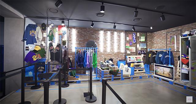 Merch in BTS Pop-Up Store