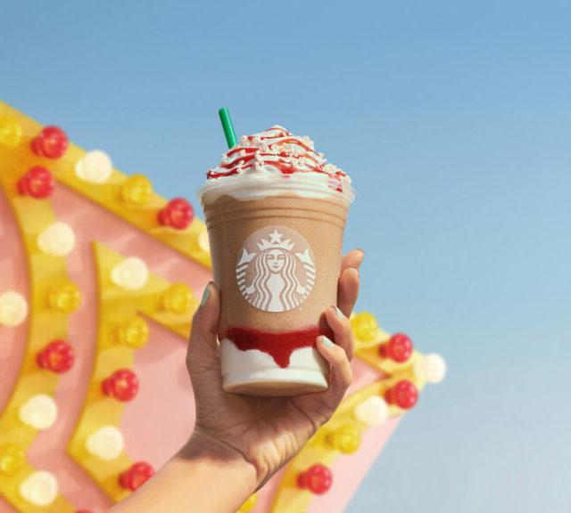 Strawberry Funnel Cake Frappuccino