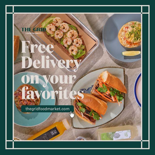 Metro Manila Restaurants: The Grid Food Market free delivery