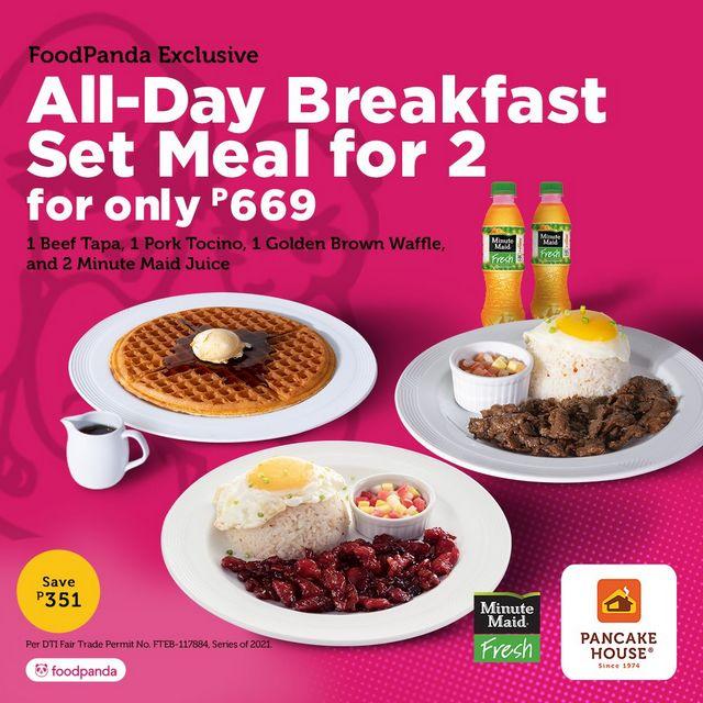 Metro Manila Restaurants: Pancake house breakfast for two