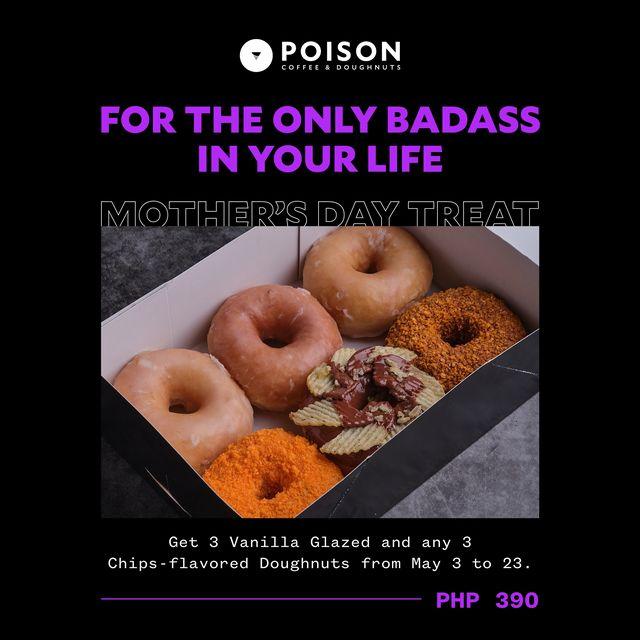Metro Manila Restaurants: Poison Coffee & Doughnuts sweet and savory treats for mom