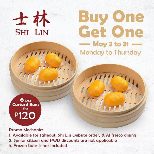 Metro Manila Restaurants: Shi Lim Two-for-one custard buns
