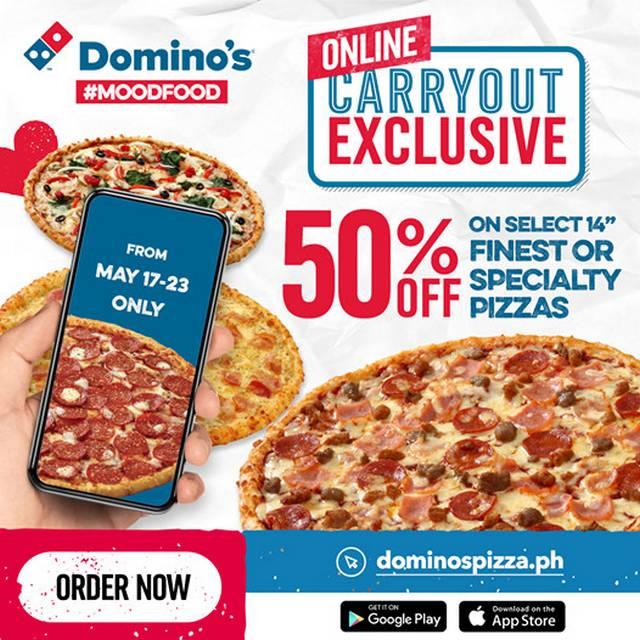 Metro Manila Restaurants: Domino's Pizza half-price pizza