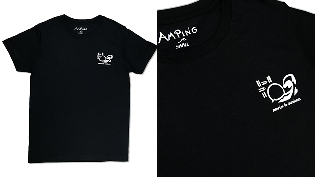 Amping Sundown T-Shirt in black