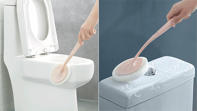 Bathroom cleaning tools: Toilet Sponge Brush from The First Mall