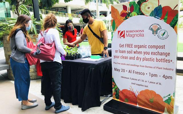 Robinsons Malls' Bottle to Plants barter program