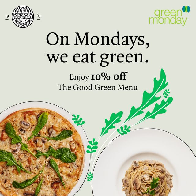 Green Mondays at PizzaExpress Promo