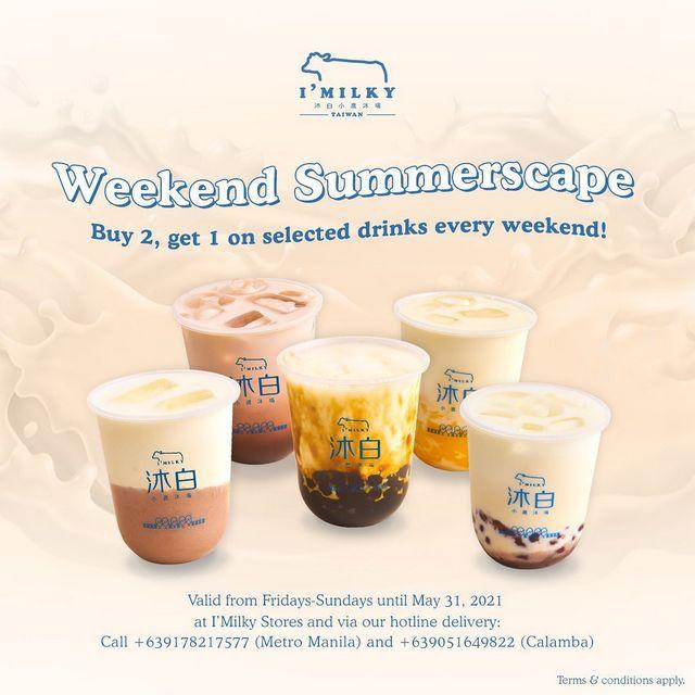 I'Milky Weekend Summerscape Buy 2 Get 1 Promo