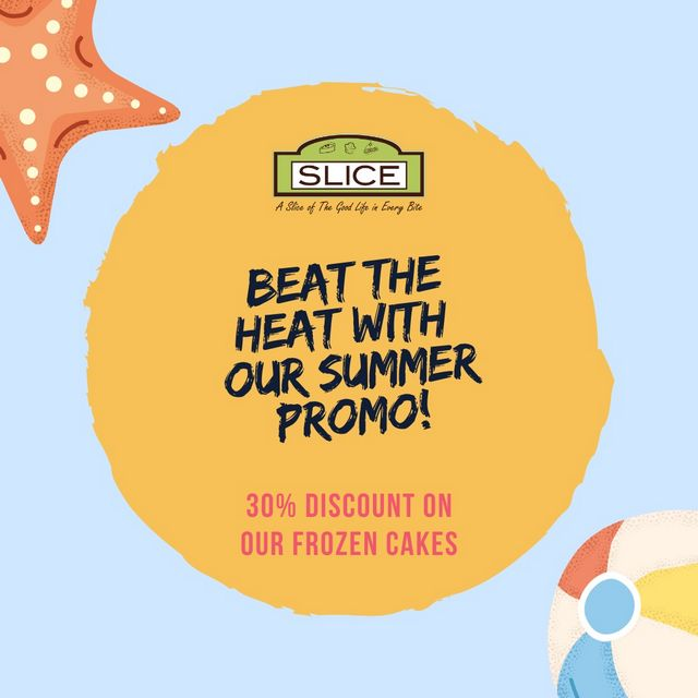 30% off on cakes at Slice Cafe