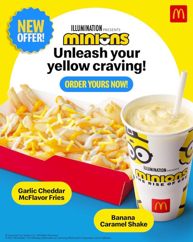 Promotional poster of McDonald's Garlic Cheddar McFlavor Fries