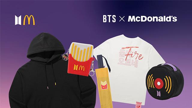 The BTS x McDonald's merch