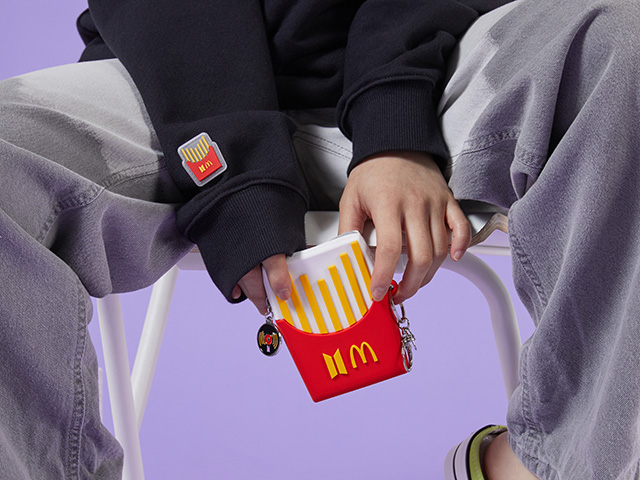 The BTS x McDonald's Black Hoodie and Silicone Pouch