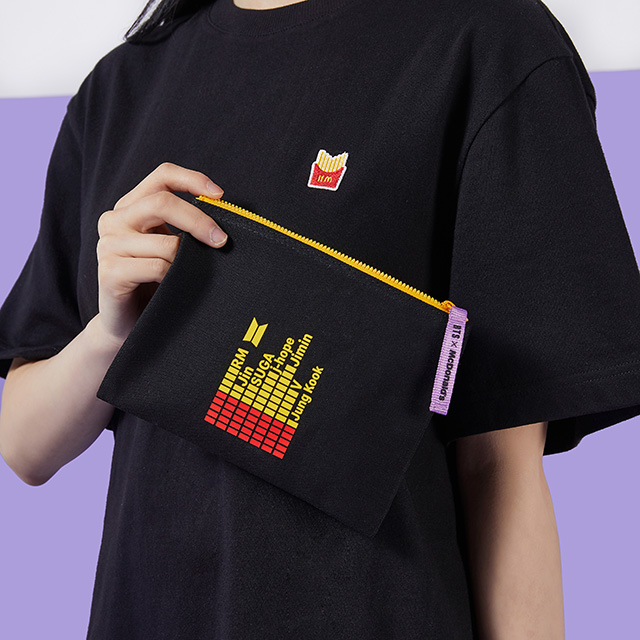 The BTS x McDonald's Themed T-Shirt and Pouch