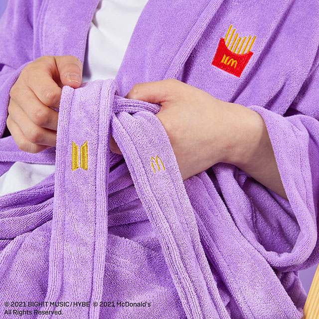 The BTS x McDonald's Themed Robe