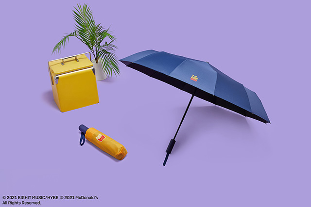 The BTS x McDonald's Themed Umbrella