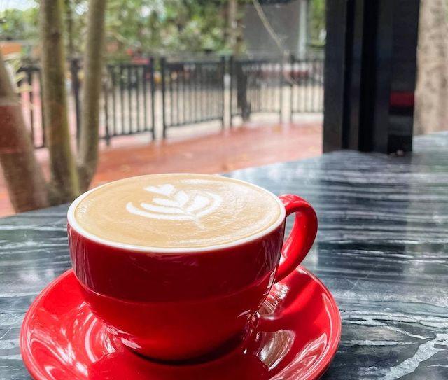 Caffè latte as served at Nimo Brew