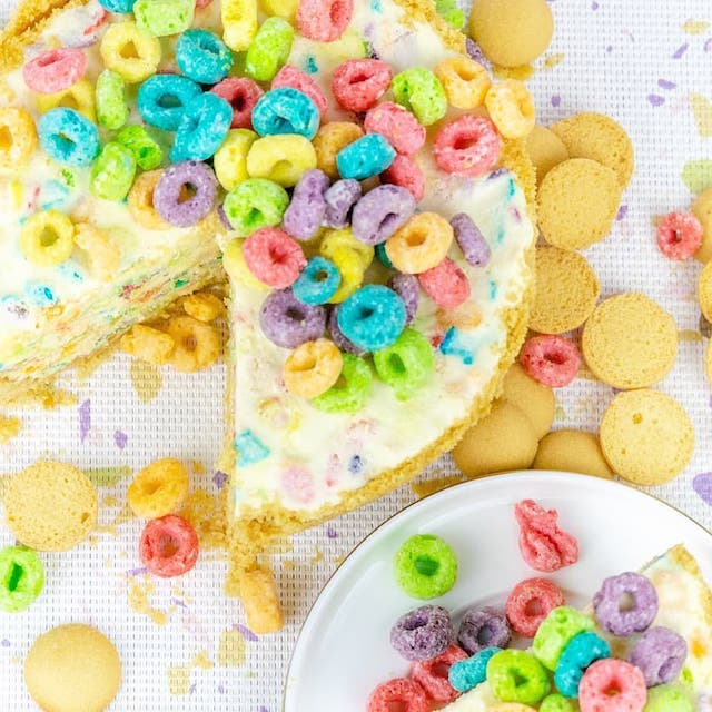 Cereal Cheesecake Pie by Pieceful Pies
