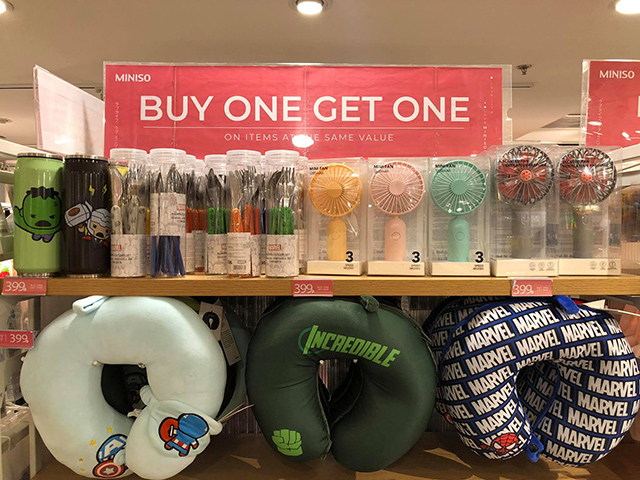 Miniso buy-one-get-one sale