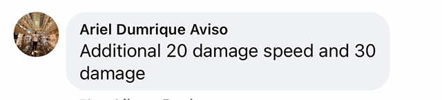 Another commenter suggests it's an RPG item with +20 speed and +30 damage