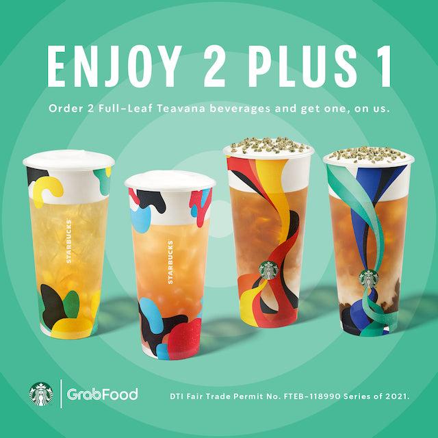 Starbucks 2+1 Teavana Promo Poster