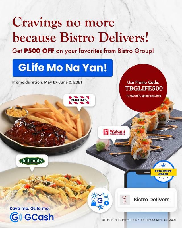 P500 discount at Bistro Delivers