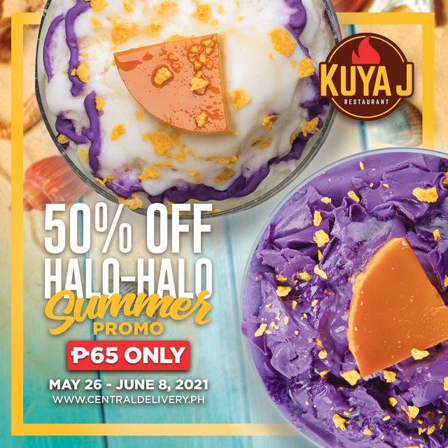 Kuya J 50% off on Halo-Halo Summer Promo