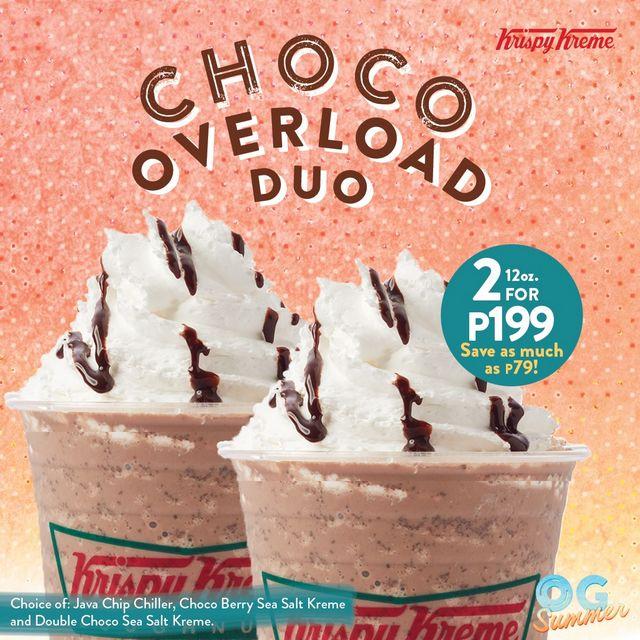 Choco Overload Duo at Krispy Kreme