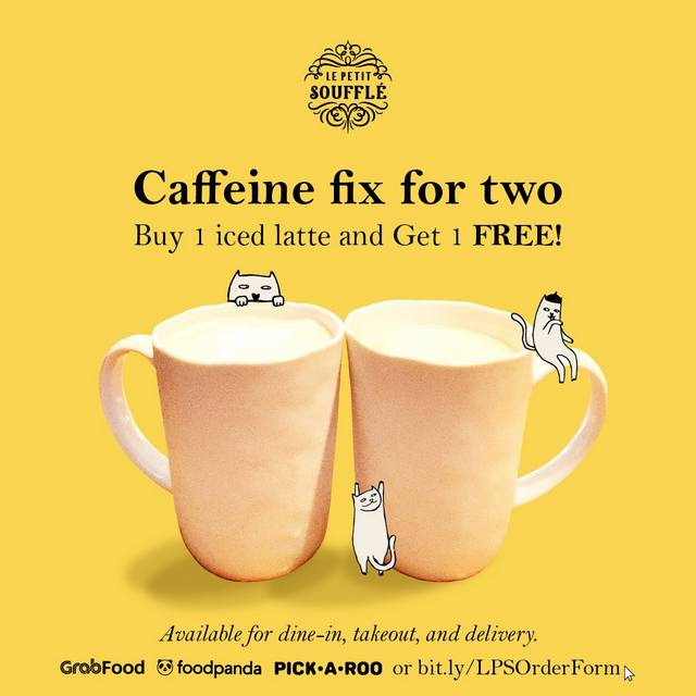 Buy One Get One Coffee at Le Petit Souffle