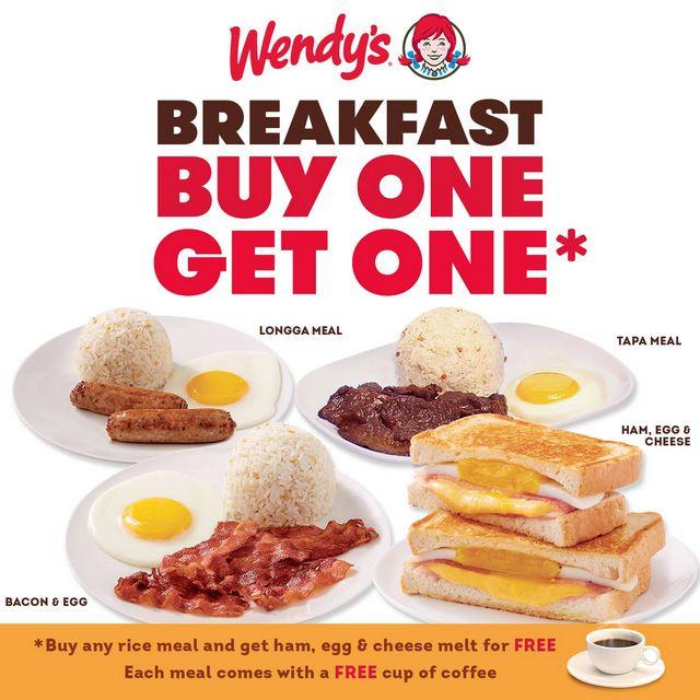 Wendy's Buy One Get One Breakfast Meal Promo