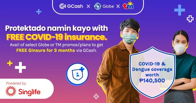 GCash GInsure COVID-19 health insurance