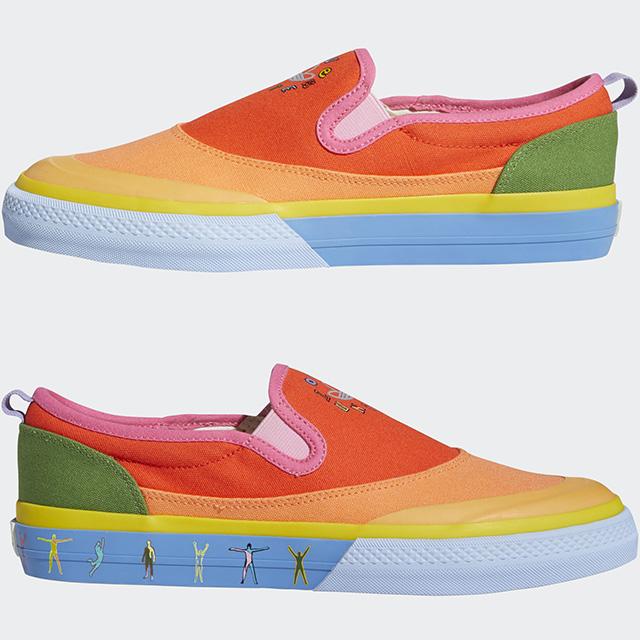 Adidas Love Unites Collection 2021: Nizza Slip-On Pride Shoes