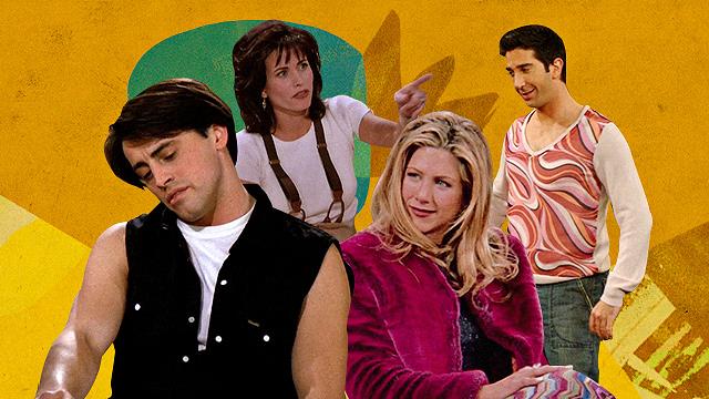 Friends tv series cast, Jennifer Aniston, Courtney Cox, David Schwimmer and Matt LeBlanc