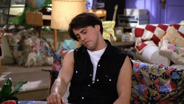 Joey's Cut-Offs Look from The One Where Monica Gets a Roommate