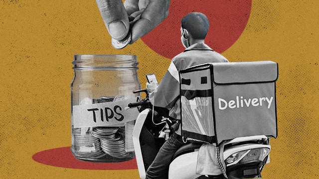 tipping the food delivery riders