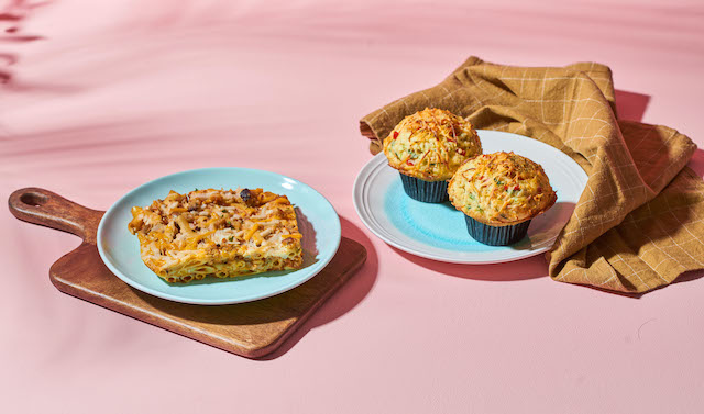 Starbucks Savory Mighty Muffin and Baked Ziti
