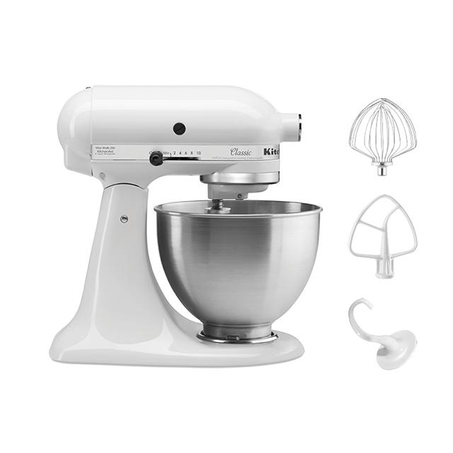 KitchenAid 4.5Qt Classic Stand Mixer in White