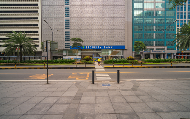 Pedestrian-friendly spot in Makati Central Business District